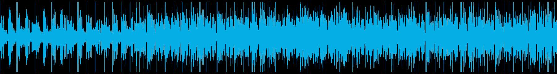ループ/夜更かしlo-fi曲001の再生済みの波形