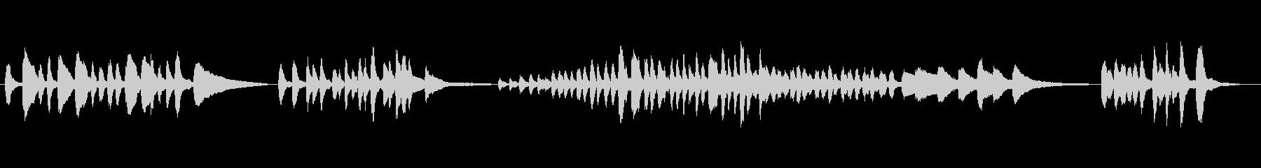 バルトーク「子供のために」29番の未再生の波形