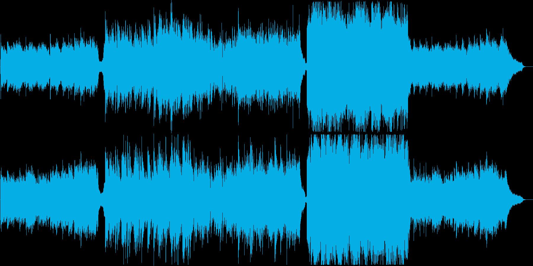 企業VP・感動・壮大・ピアノと弦楽器の再生済みの波形