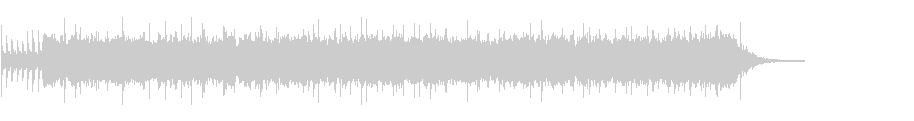ヘヴィロックなBGMの未再生の波形