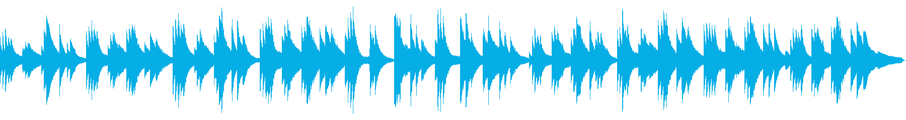 【ピアノソロ】穏やか・ゆったり・夕暮れの再生済みの波形