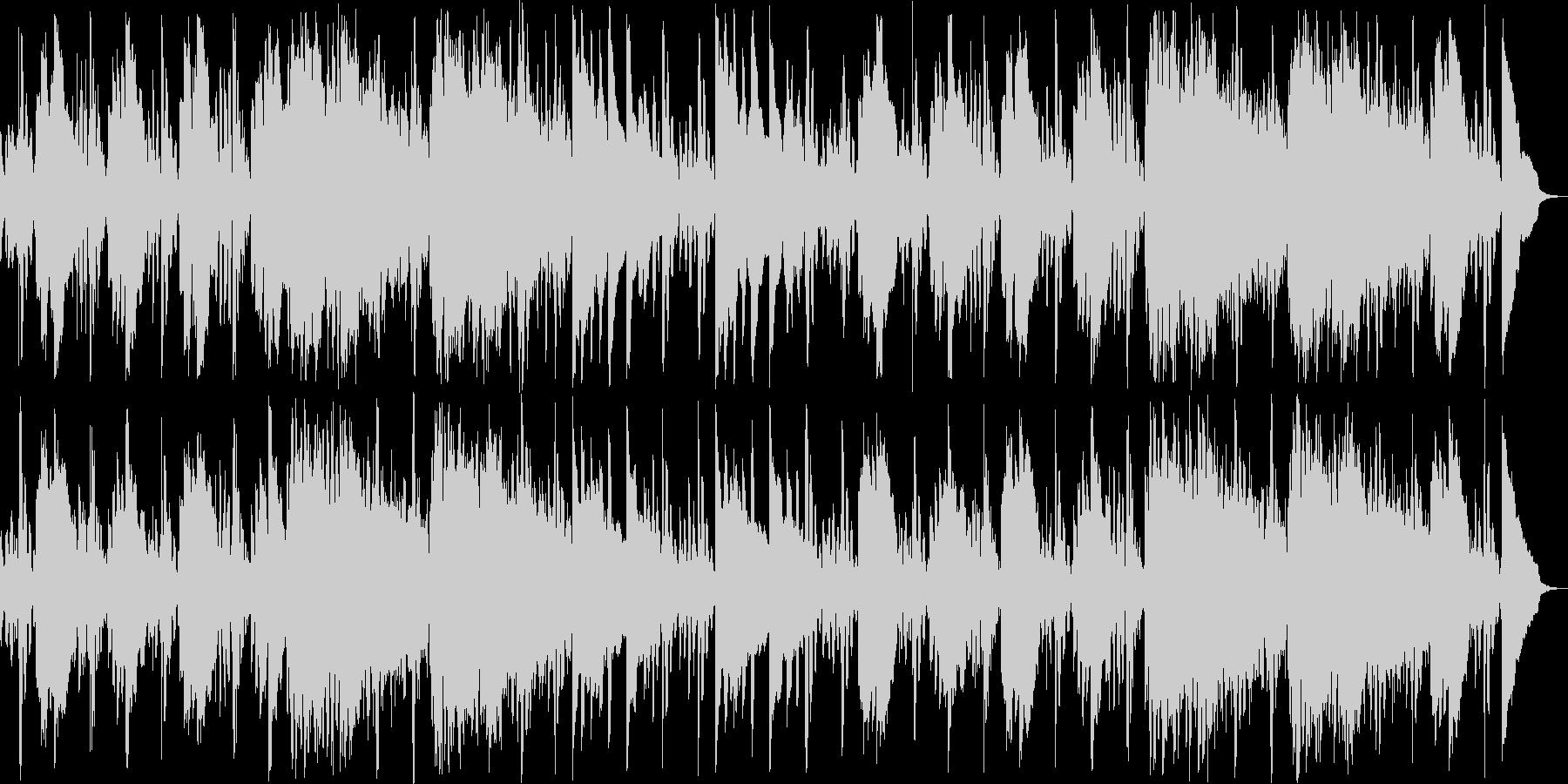 眠りを誘うリラクゼーション系ヒーリング曲の未再生の波形