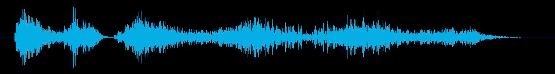 電子ジッターをシャットダウンの再生済みの波形