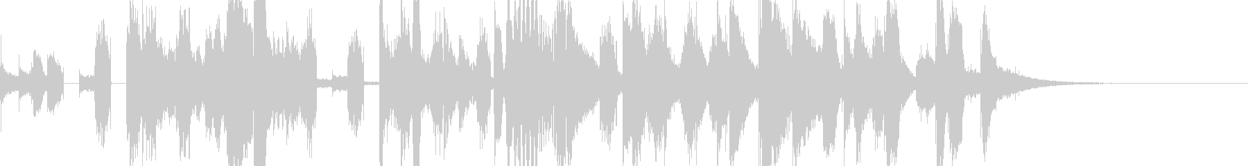ハッピーで華やかなジングル9.5秒verの未再生の波形