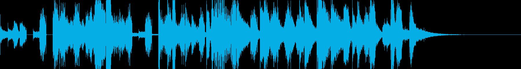 ハッピーで華やかなジングル9.5秒verの再生済みの波形
