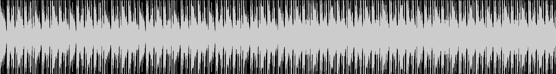 エキゾチックで勢いのある民族音楽風BGMの未再生の波形