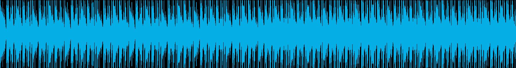 エキゾチックで勢いのある民族音楽風BGMの再生済みの波形
