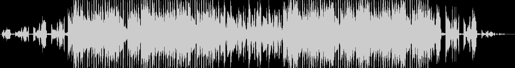 レトロなサウンド、ゆったりヒップホップの未再生の波形