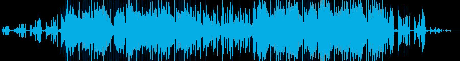 レトロなサウンド、ゆったりヒップホップの再生済みの波形