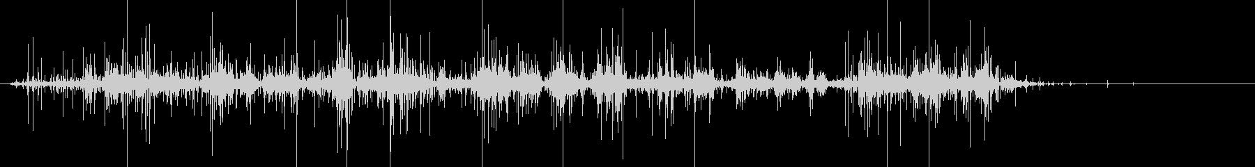 くしゅくしゅ…ナイロンをまるめる音の未再生の波形