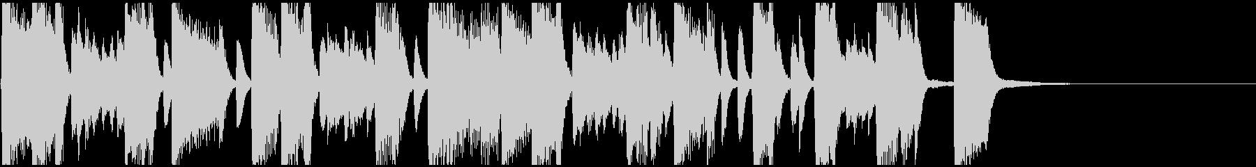 沖縄音階のJAZZ風ピアノジングルの未再生の波形