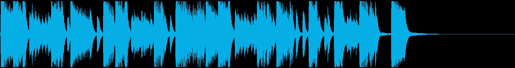 沖縄音階のJAZZ風ピアノジングルの再生済みの波形