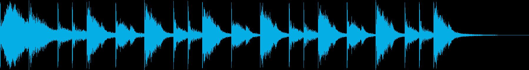 リアルなドラム8ビートです。の再生済みの波形