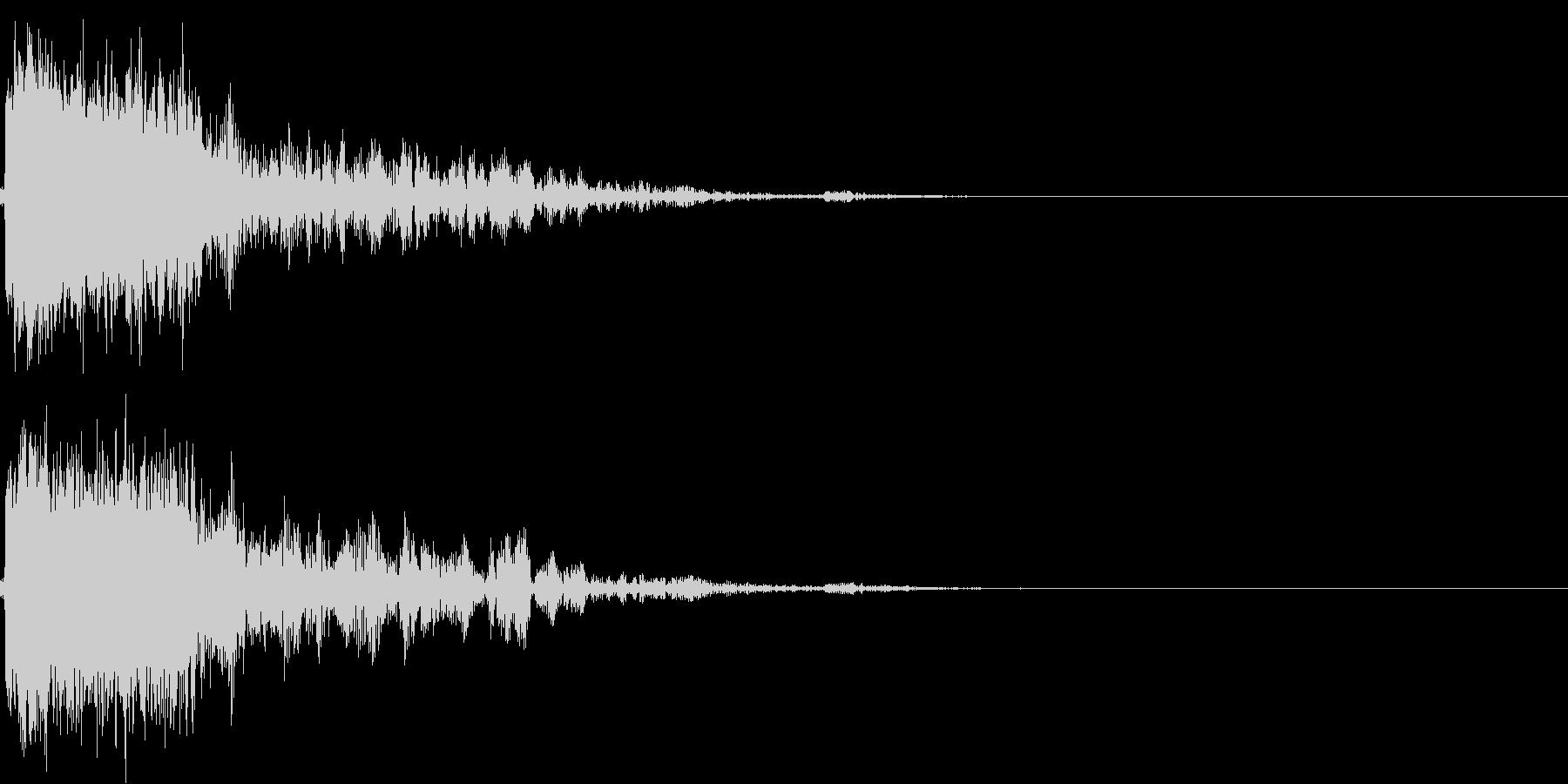 アニメ系のロボット爆発、破壊の効果音01の未再生の波形