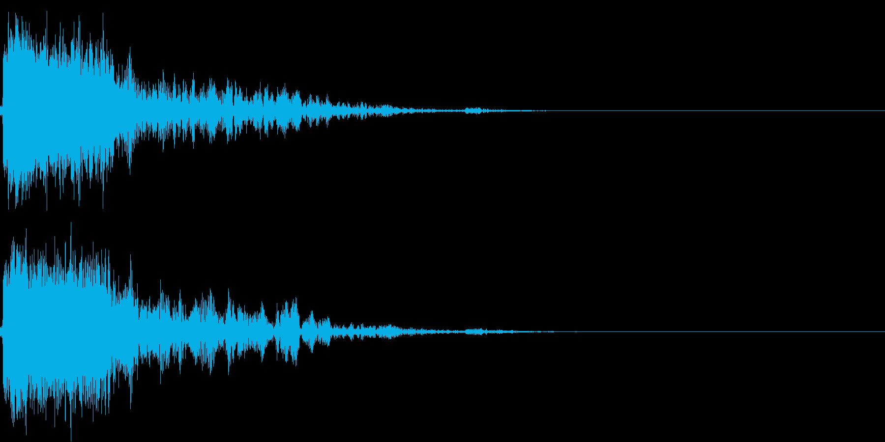 アニメ系のロボット爆発、破壊の効果音01の再生済みの波形