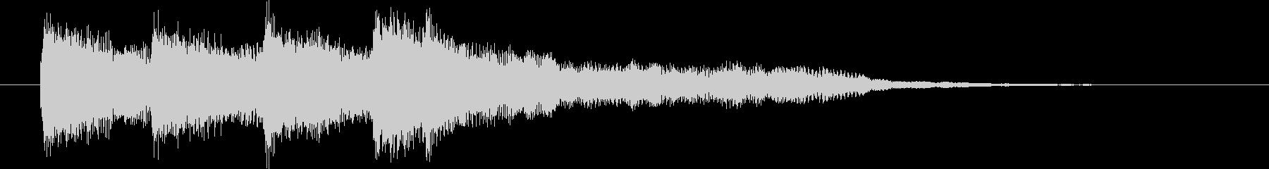 ピンポンパンポン(上昇)の未再生の波形