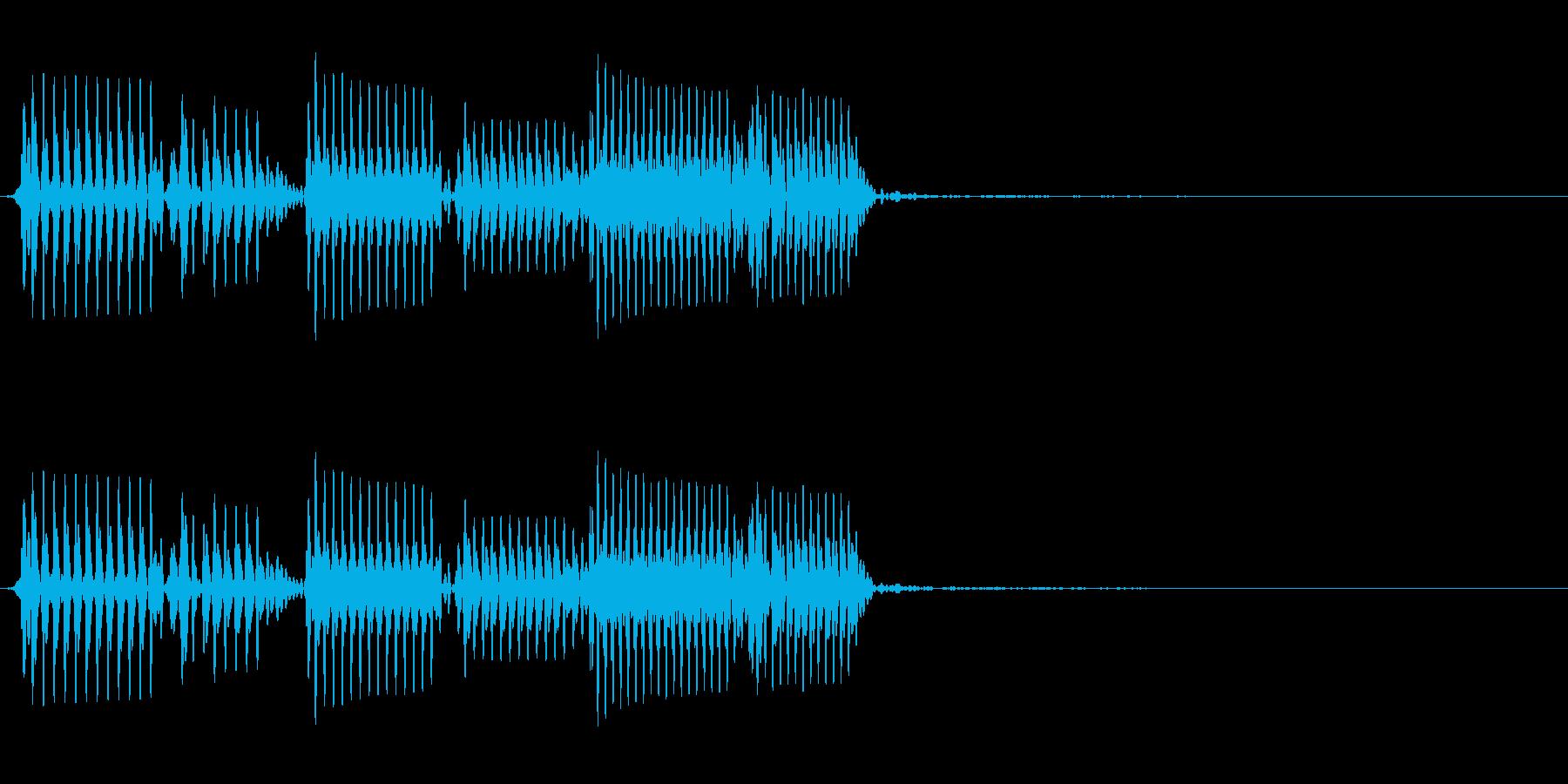 エレクトリックベース:ショートアク...の再生済みの波形