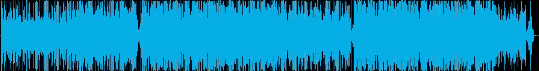 リズミカルで楽しい雰囲気のBGMの再生済みの波形