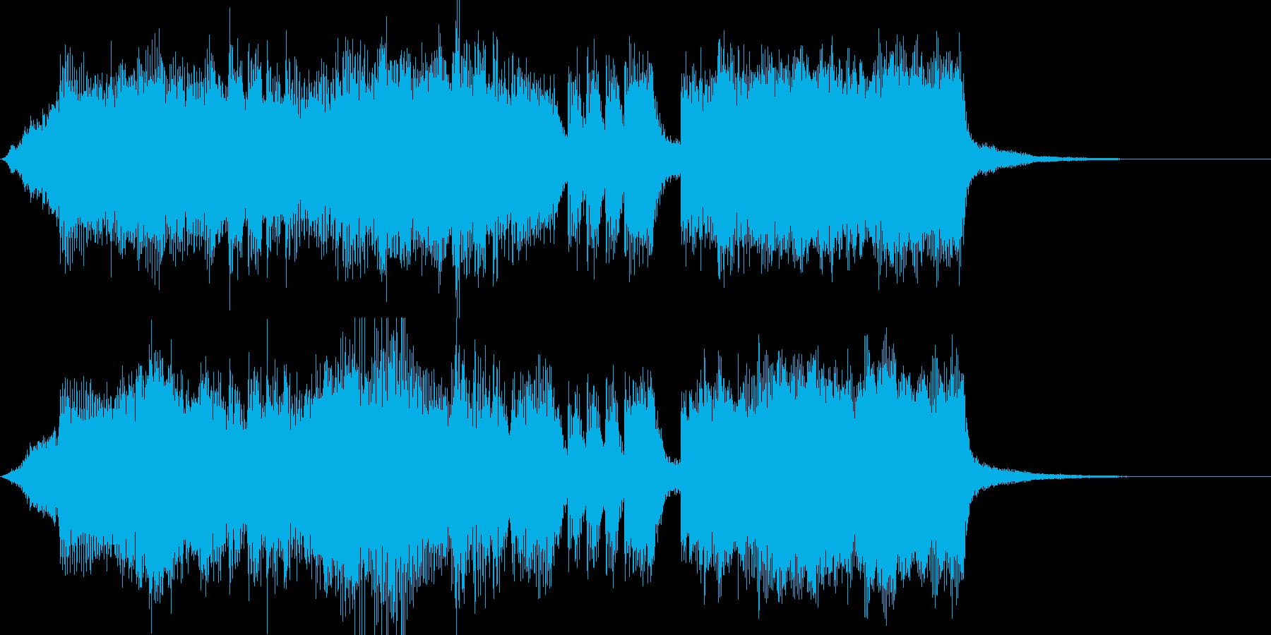 ジングル 勝利のファンファーレの再生済みの波形