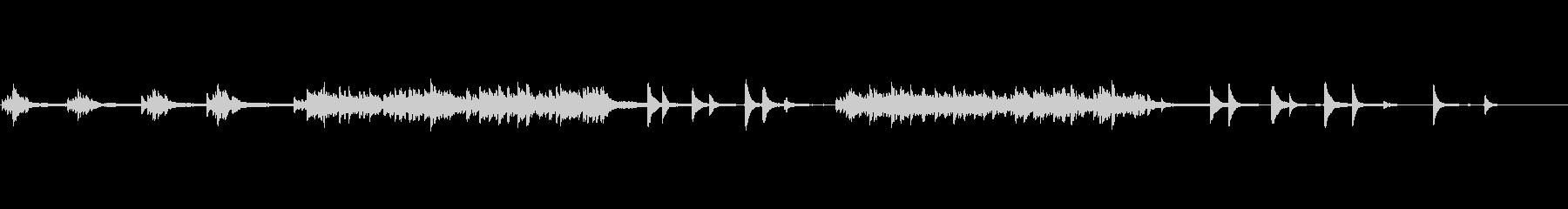 VLOG/BGM 穏やか綺麗な生ピアノの未再生の波形
