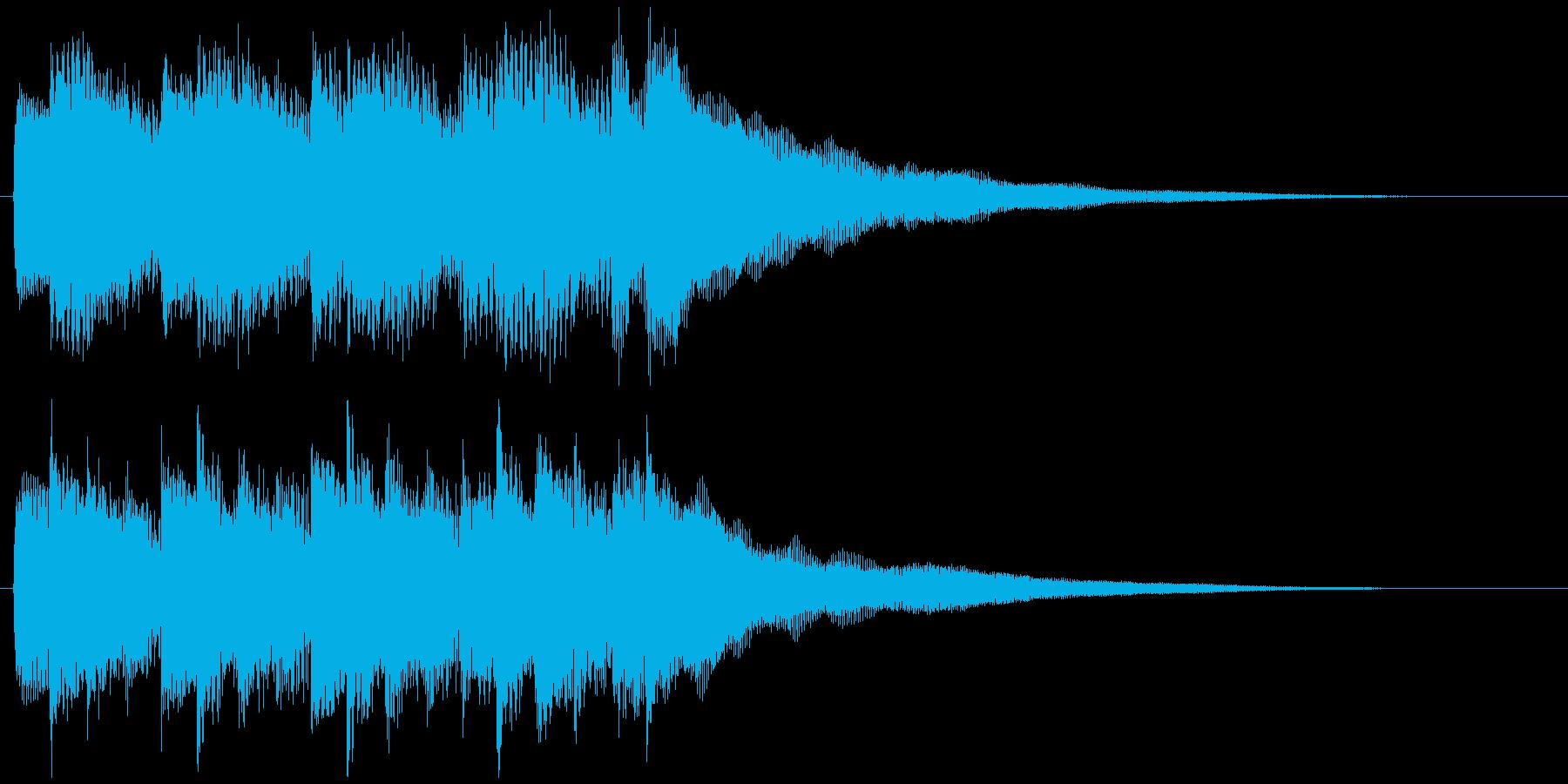 サウンドロゴジングルのドラマチックピアノの再生済みの波形