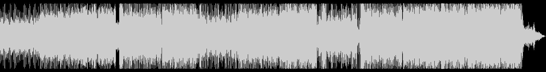 三味線生演奏、和風エレクトロの未再生の波形