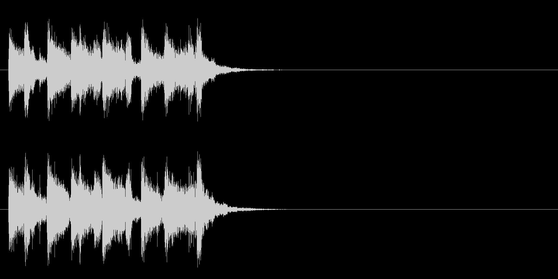 ジングル/アタック(スイング・ジャズ風)の未再生の波形