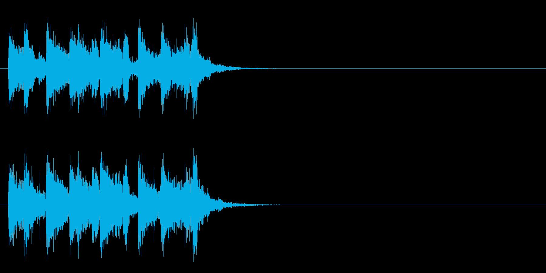 ジングル/アタック(スイング・ジャズ風)の再生済みの波形