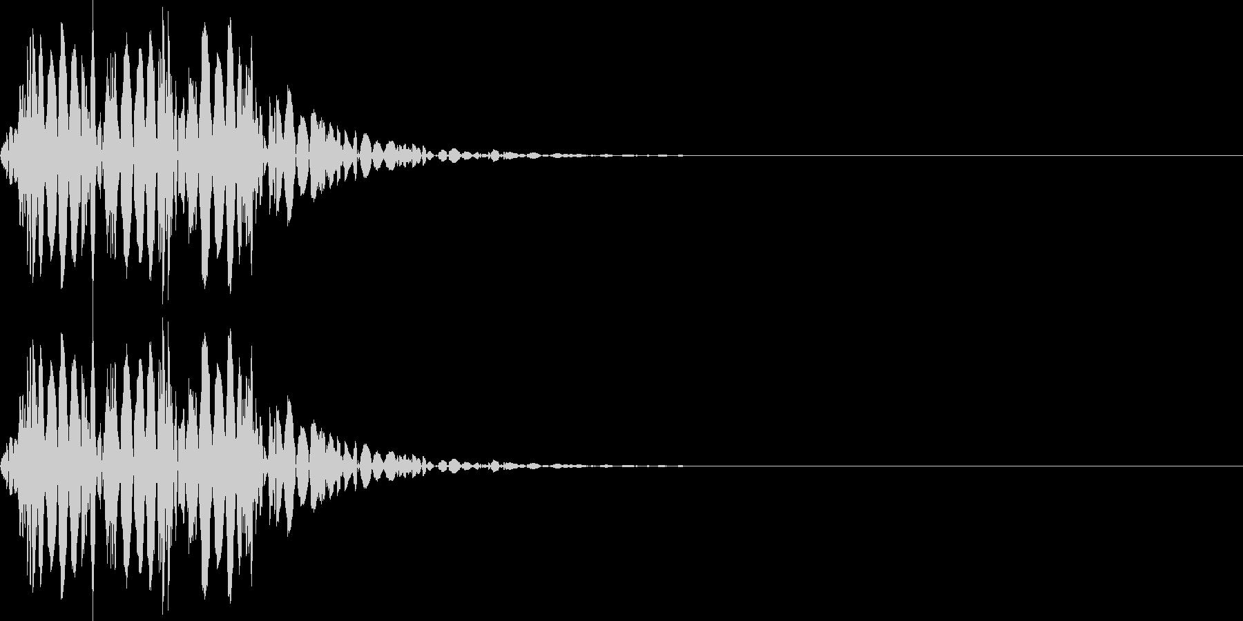 打撃音(マイナス_低音_ダメージ_鈍い)の未再生の波形