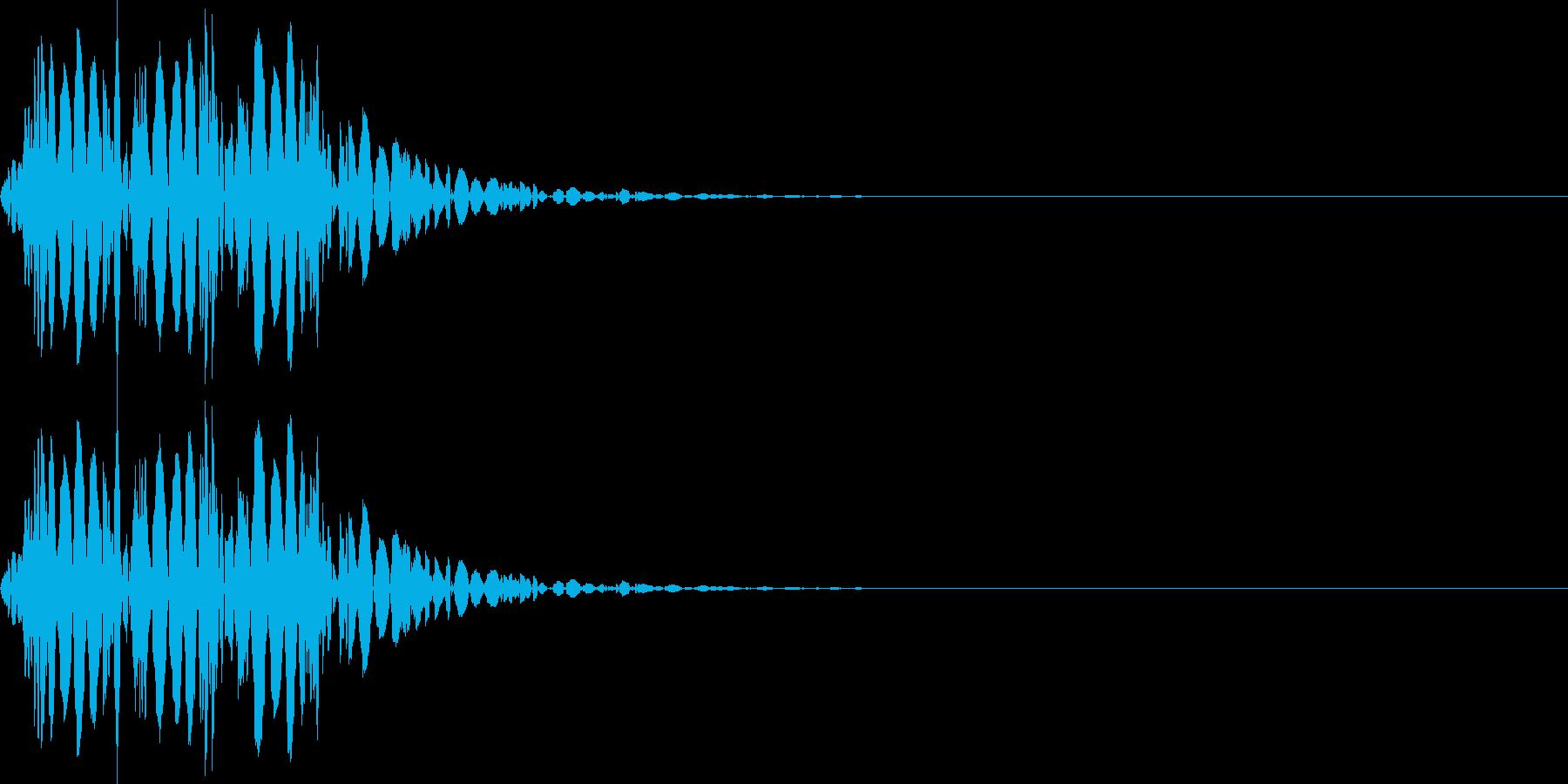 打撃音(マイナス_低音_ダメージ_鈍い)の再生済みの波形