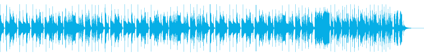 かわいいパズルBGM(スピードアップ有)の再生済みの波形