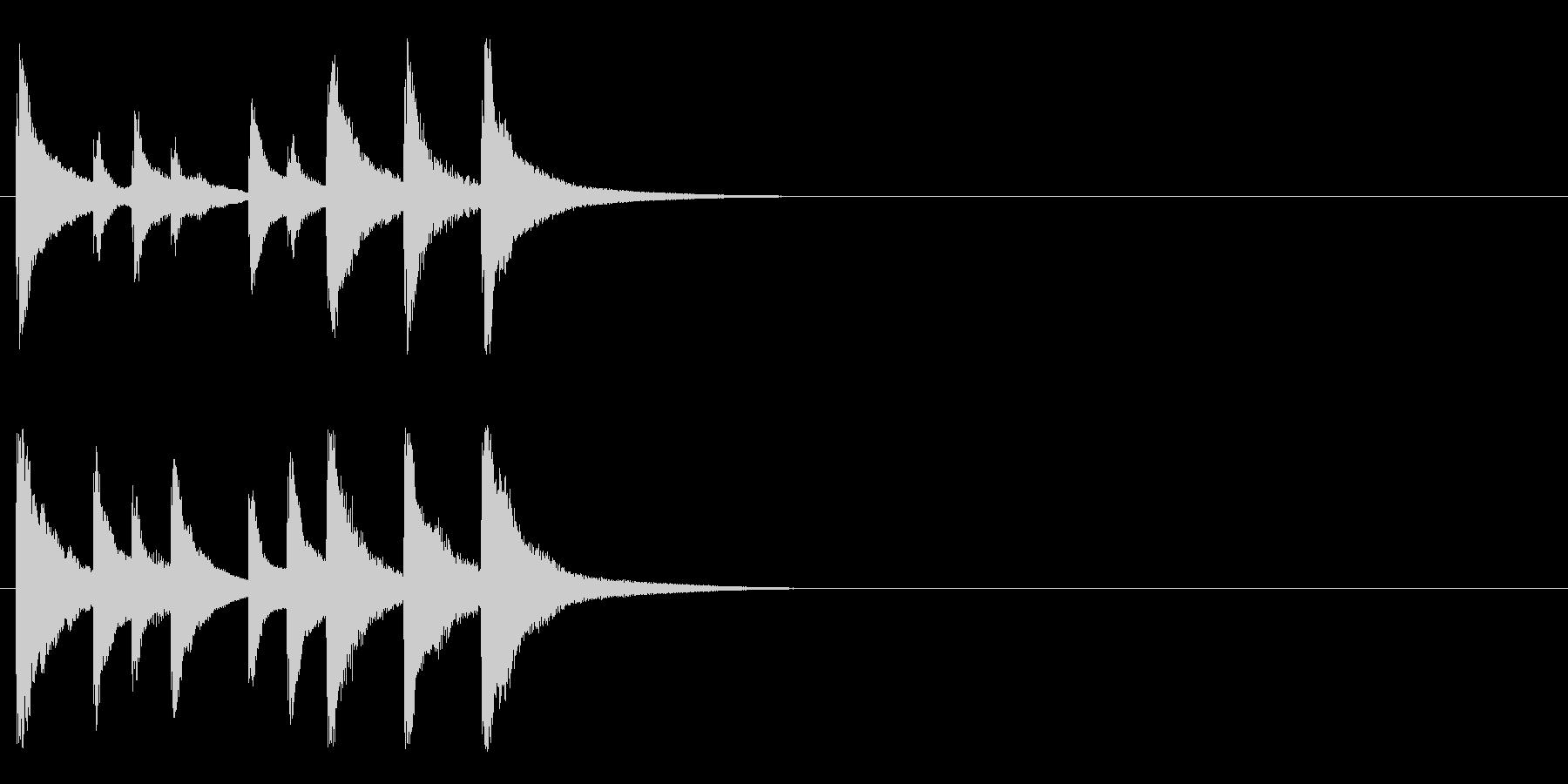可愛らしいオルゴールジングルの未再生の波形