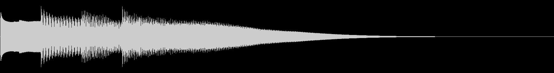 可愛いベルの音。きらららん。下降系。の未再生の波形
