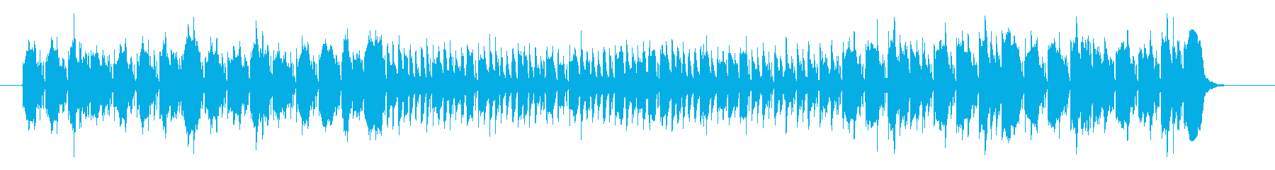 アコーディオンのかわいいメロディーの再生済みの波形