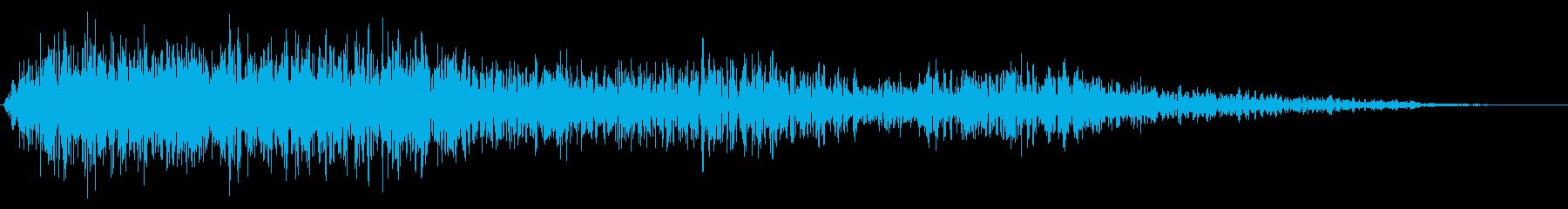 戦闘機の風の音の再生済みの波形