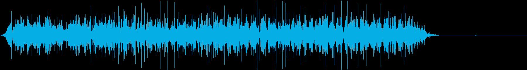 ビニール袋をぐしゃぐしゃする音の再生済みの波形