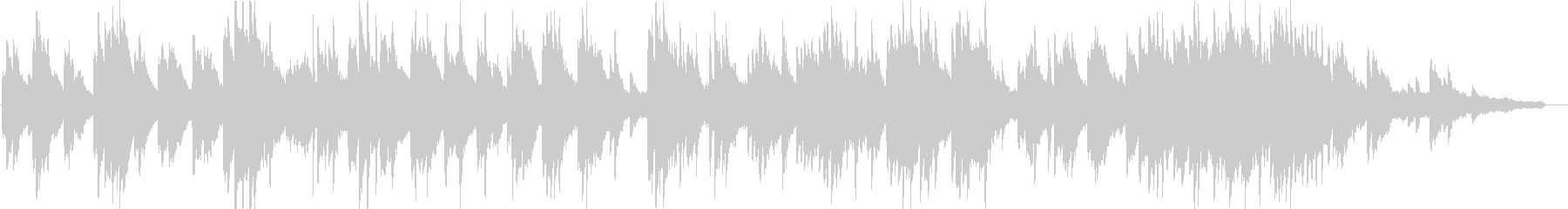 ヒーリングピアノ組曲 まどろみ 11の未再生の波形