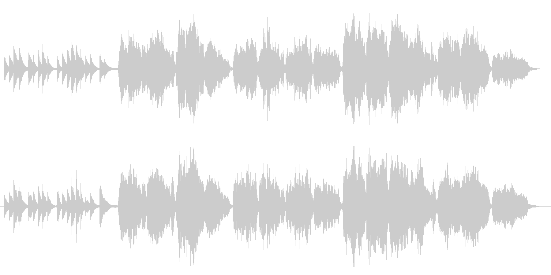 ブルグミュラー作曲「Ave Maria」の未再生の波形