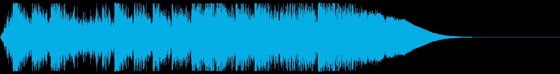 自然の息吹を感じる壮大な和風サウンドロゴの再生済みの波形