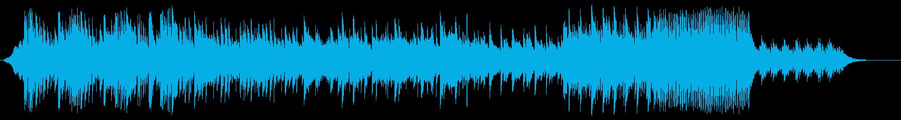 アコギがメインの静かで暗めの曲の再生済みの波形