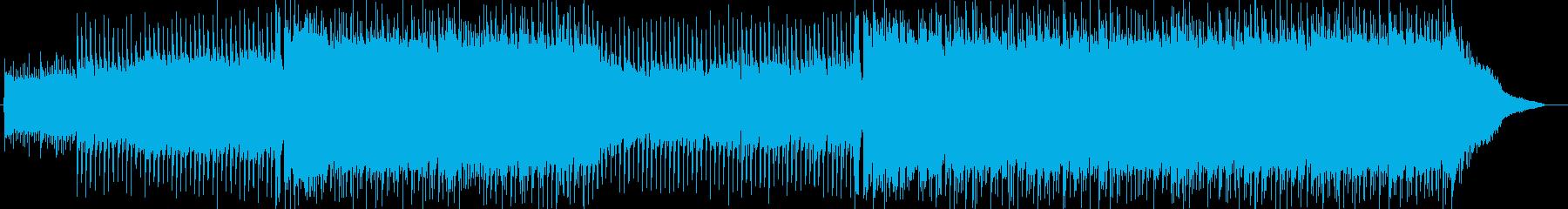 疾走感あふれる邦ロックチューンの再生済みの波形