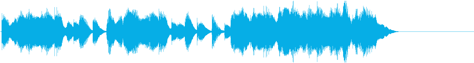 和風でコミカルなジングルの再生済みの波形