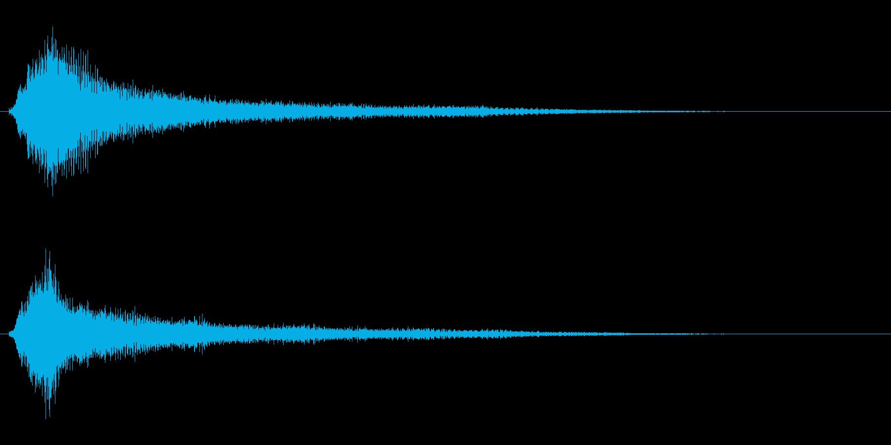 サスペンスに最適!ピアノの弦を弄ぶ音31の再生済みの波形