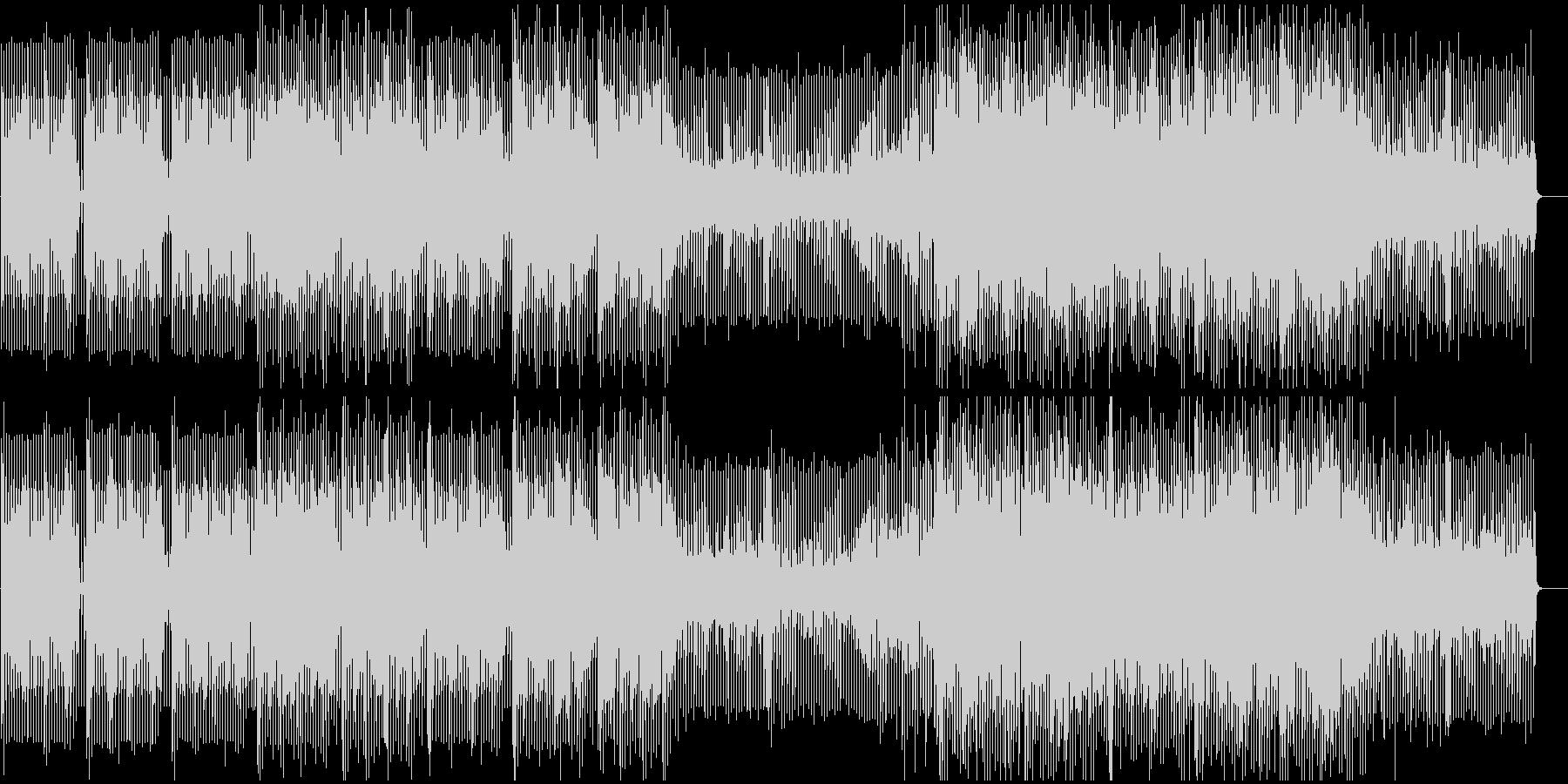 パワフルで疾走感あるメロディーの未再生の波形