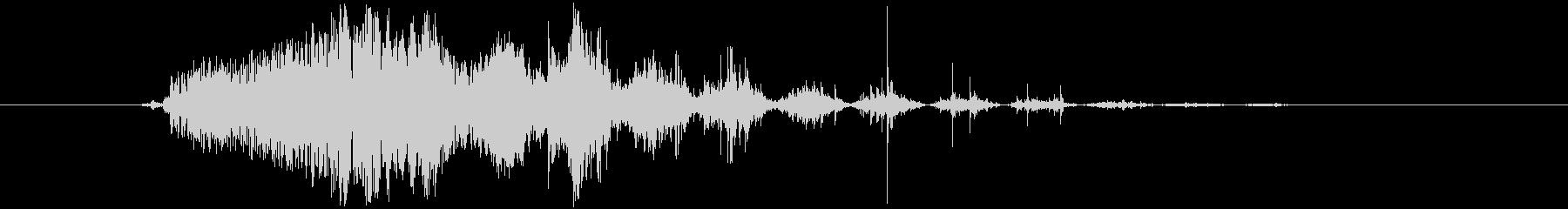 ピューーシュ 効果音 ボタン音の未再生の波形