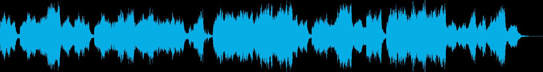 リコーダーの音色が優しいオーケストラの再生済みの波形