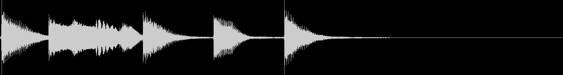 明るく かわいいピアノサウンドロゴ04の未再生の波形
