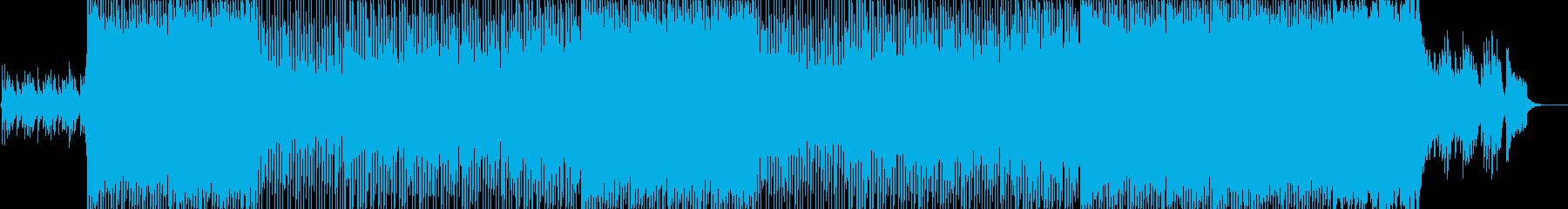 ピアノ主体の爽やか癒し系トラックの再生済みの波形