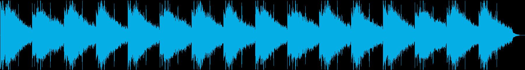 開放感のある明るいリザルト画面のBGMの再生済みの波形
