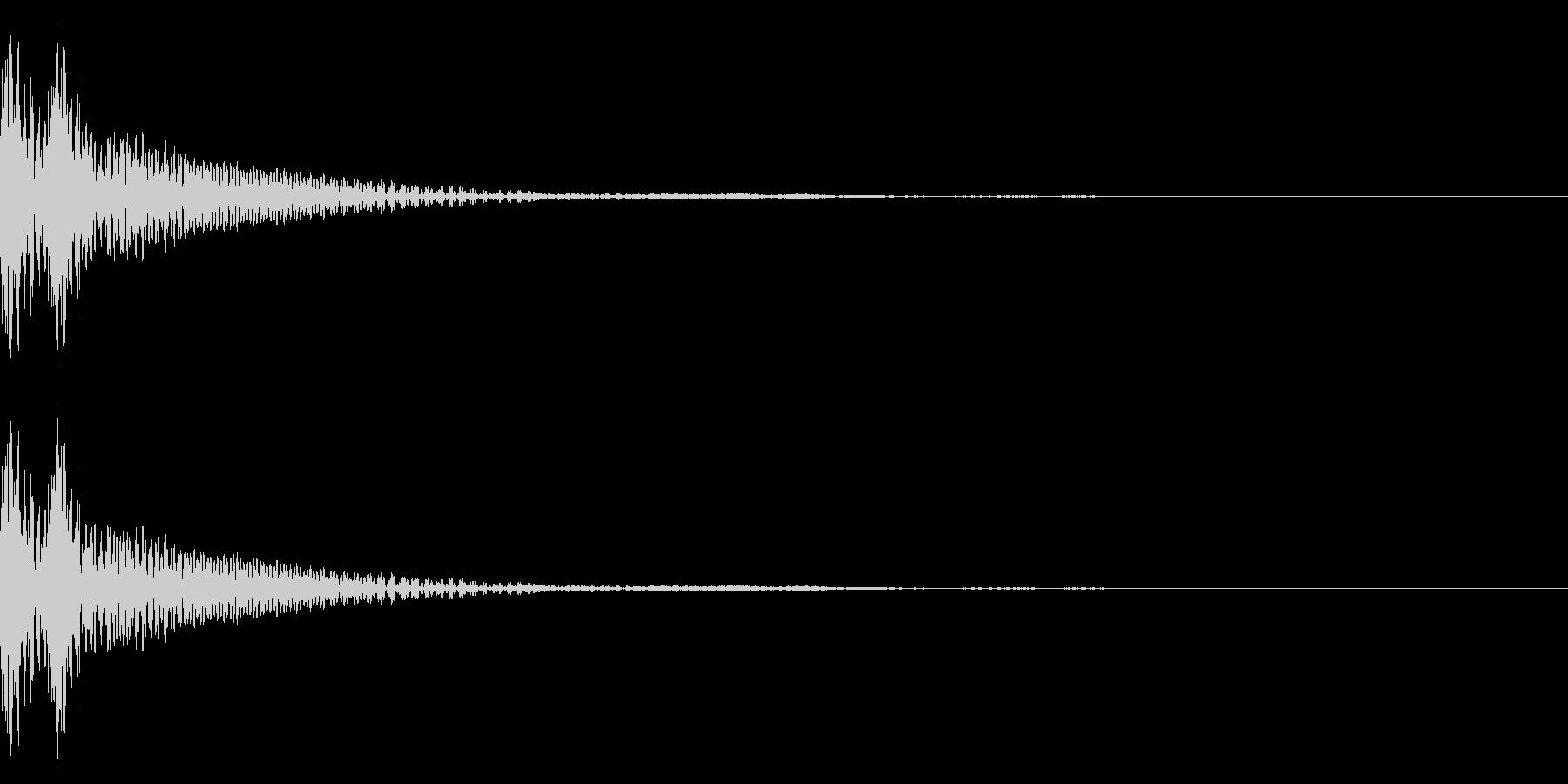 和風「ドドン」大太鼓+当り鉦+大鼓 速めの未再生の波形